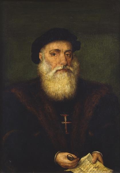Неизвестный художник. Портрет рыцаря ордена Христа (Васко да Гама?)