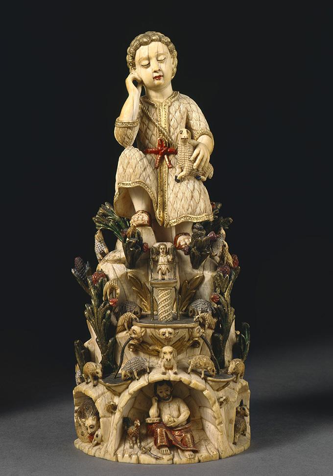 Младенец Иисус Христос Добрый Пастырь.  Индия, Гоа, XVII век.  Слоновая кость, полихромная роспись.  Национальный музей старинного искусства, Лиссабон. ©Museu Nacional de Arte Antiga/José Pessoa 2003