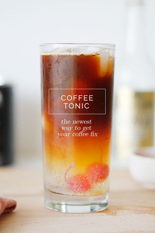 Кофе с тоником — мода на горькое с горьким
